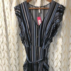Xhilaration Striped Button Down Dress
